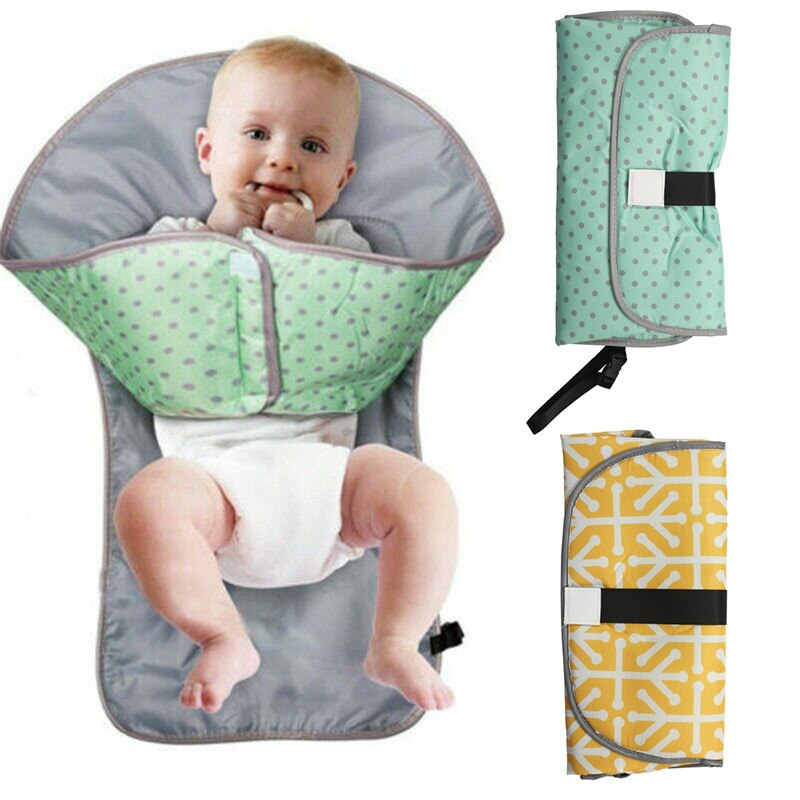 Infant Foldable Urine Mat 3-in-1 Multifunctional Portable Waterproof Nappy Diaper Changing Pad baby Beds strollers cars cushion