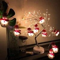 10led santa christmas tree decorations 2021 led garland string light christmas ornaments for home 2021 natal new year navidad