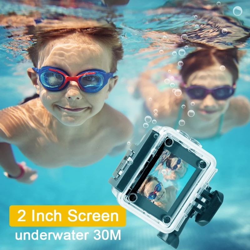 Ultra HD 4K Action Camera 2.0inch WiFi 170D With Remote Control Go Waterproof Pro Bicycle Helmet Video Recording Sport Camera DV enlarge