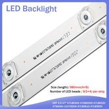 "98cm LED Backlight Lamp strip 9 leds For LG 47"" TV innotek DRT 3.0 47"" 47LB6300 47GB6500 47LB652V 47lb650v LC470DUH 47LB5610"