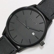 Boong 남성용 패션 스위스 쿼츠 시계 캘린더 방수 남성 시계 비즈니스 캐주얼 블랙 손목 시계 빅 세일 무료 배송