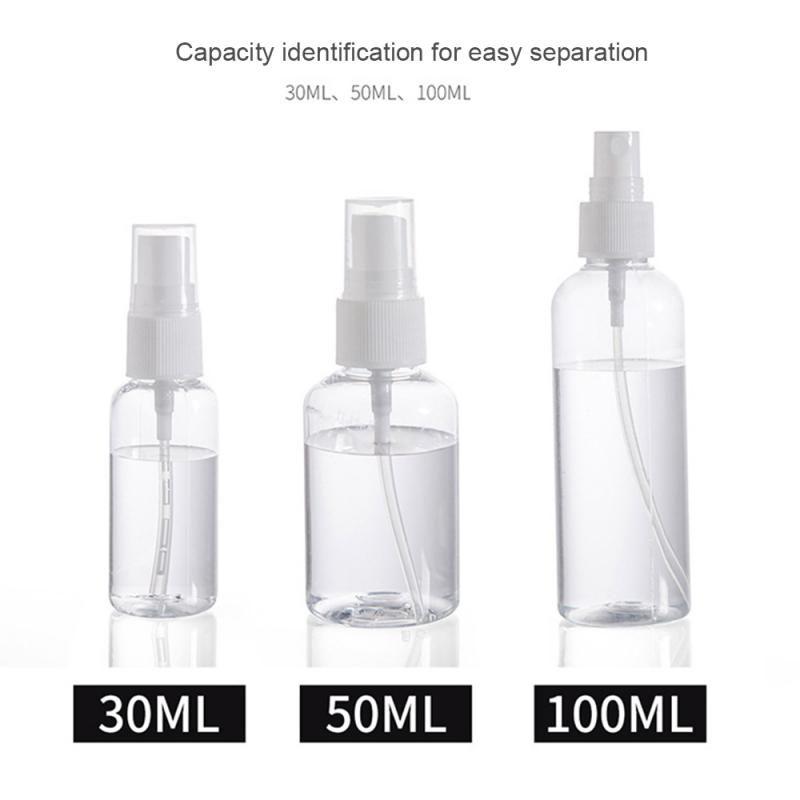 30ml/50ml/100ml Spray Bottle Refillable Bottle Portable Plastic Bottle Travel Bottles Mini Bottles Cosmetics Container 30ml 50ml 100ml 150ml portable travel black aluminum empty bottle perfume spray bottle cosmetic packaging container