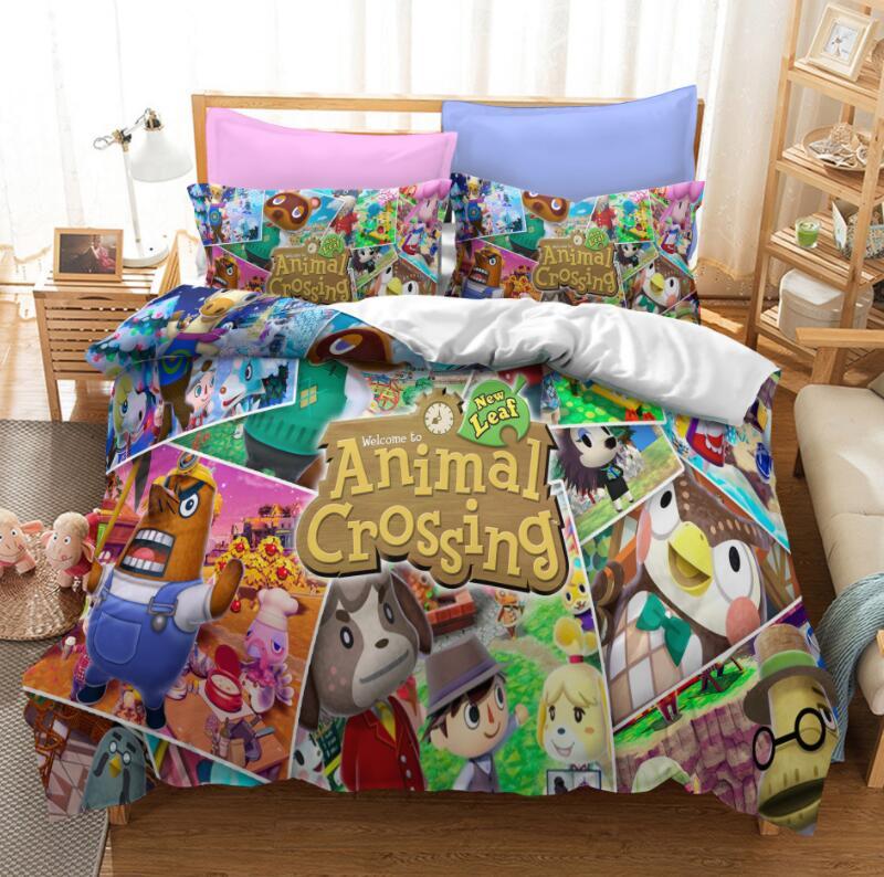 Juego de cama 3d con estampado de animales, juego de edredón para adultos y niños, ropa de cama doble de tamaño Queen King, envío directo