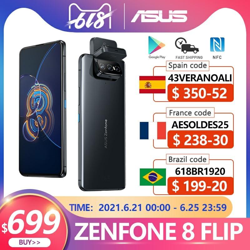 Новый ASUS Zenfone 8 флип-глобальная Версия 8 Гб Оперативная память 128/256 ГБ Встроенная память Snapdragon 888 6,67 дюйм 1080p 5000 мА/ч, андроид NFC OTA 5G для мобильного т...