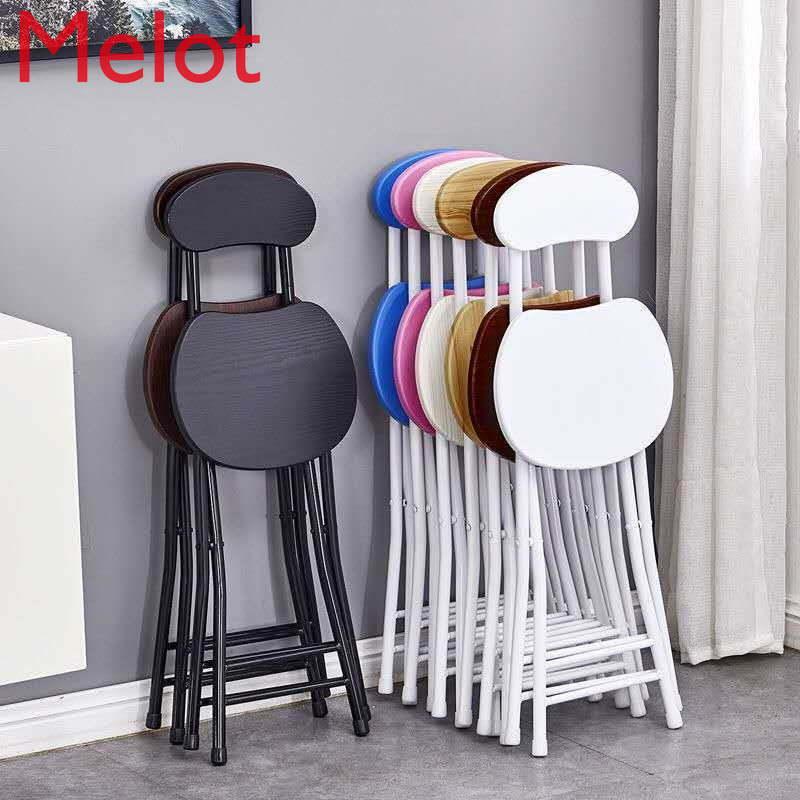 كرسي بلا ظهر قابل للطي محمول مقعد مرتفع مسند الظهر كرسي المنزل الحديثة بسيطة وخفيفة الوزن الكبار كرسي طعام دائري صغير