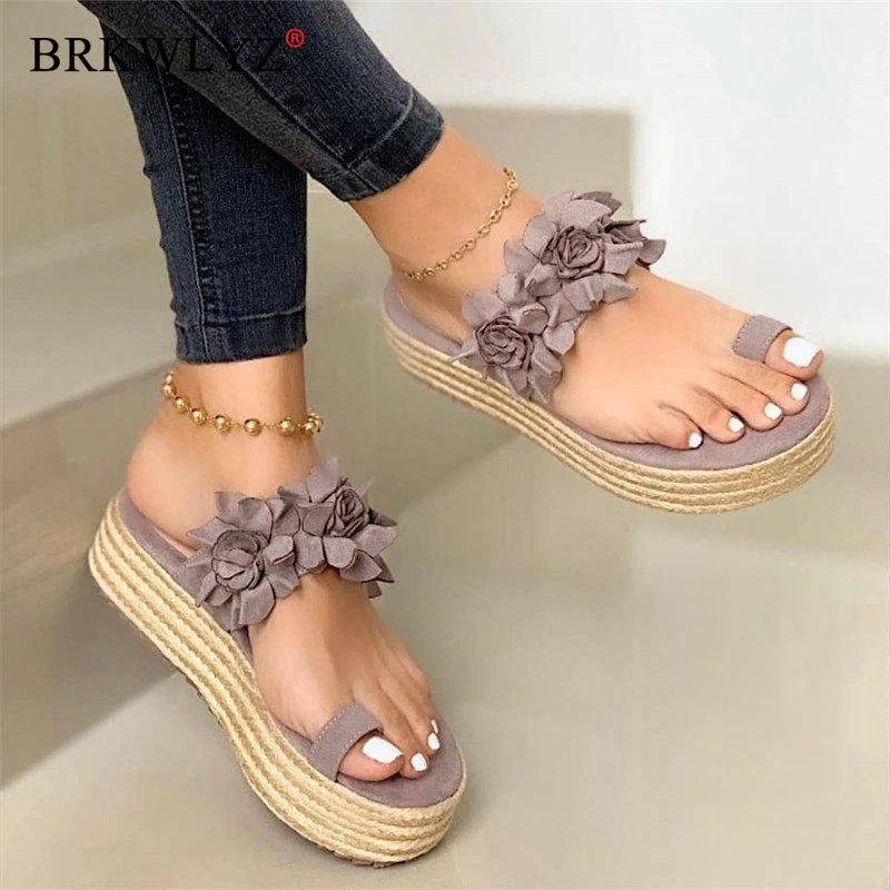 Women Sandals Plus Size Wedges Shoes for Women High Heels Sandals Summer Shoes 2020 Flip Flop Chaussures Femme Platform Sandals