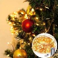 Decor a la maison 100LED Fil De Cuivre Lampe Lumieres Ambiantes Lexecution De Chaine 8 Programme de Fete decoration De Noel livraison directe