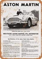 mcc538arthy tin signs metal sign 1966 james bond aston martin holiday vintage poster metal plaques for funny wall deco