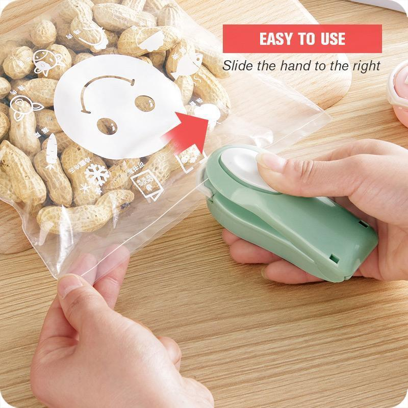 Portable Plastic Package Storage Bag Mini Sealing Household Machine Handy Sticker and for Food Snack Kitchen Accessories