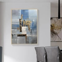 artist hand painted high quality modern abstract yellow gold tree landscape oil painting on canvas large autumn tree oil paintin