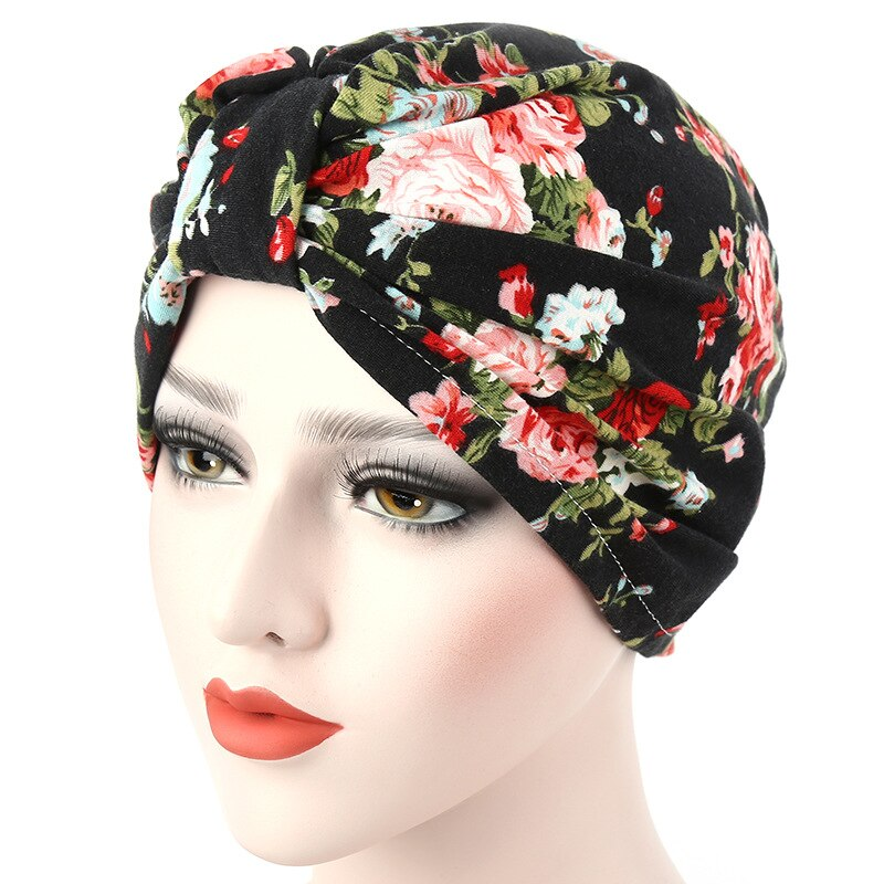 Moda impressão muçulmano turbante gorro indiano envoltório feminino hijab caps flor idílica pronto para usar muçulmano cocar hijabs interior