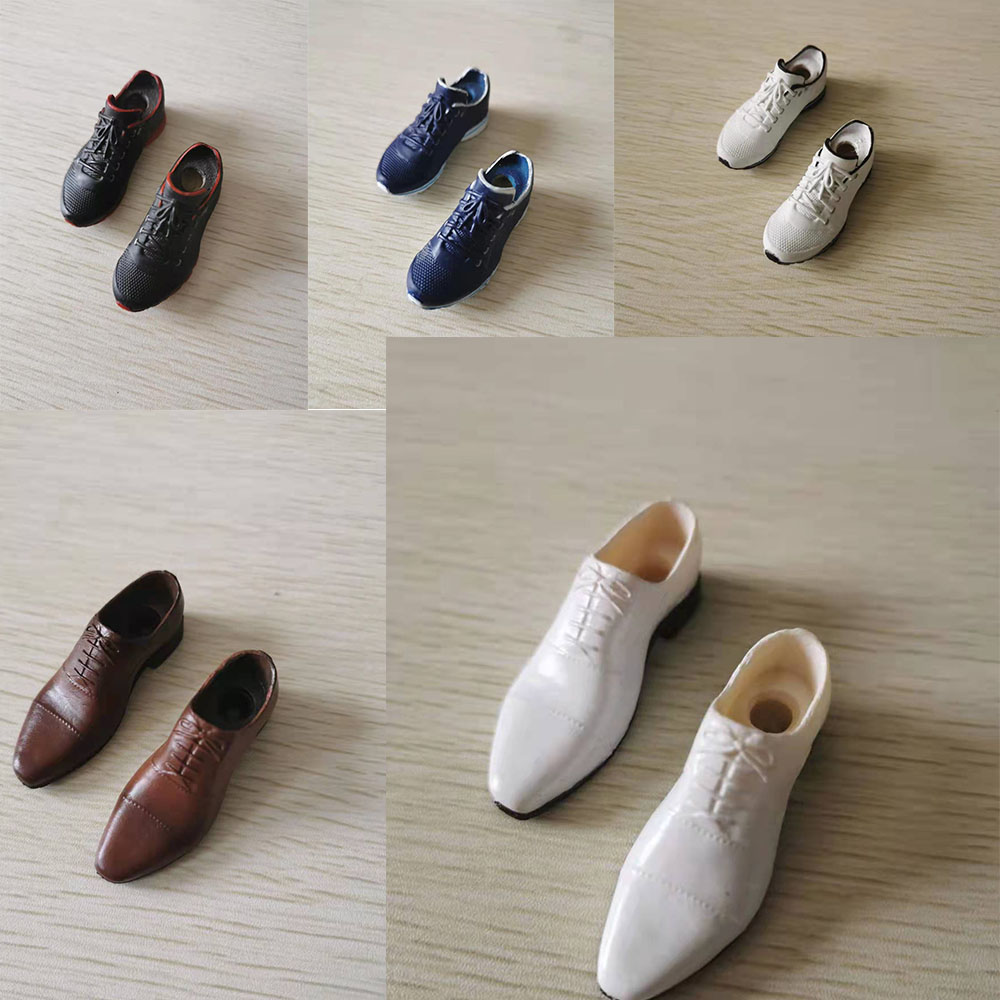 1/6 Scale Male Shoes Model PU Leather Pointy For 12 Inch Action Figure Doll In Stock