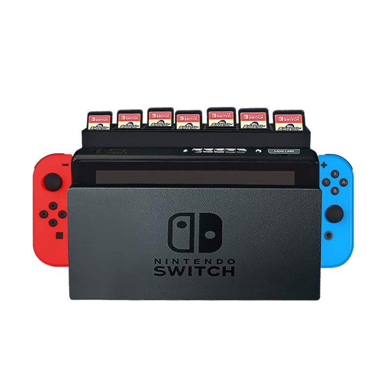 Portátil de titular de tarjeta de memoria juego de memoria tarjeta de almacenamiento caja de titular de la tarjeta de juego de Rack de almacenamiento para Nintendo interruptor 28 Cards3