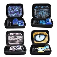 highest tobacco kit metal rolling tray plastic herb container zinc alloy grinder weed rolling machine smoking accessories