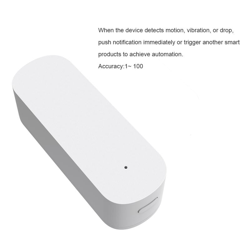 1PC Smart ZigBee Vibration Sensor Smart Detection Alarm Home Security System Sensor Support Alexa Google Home Tuya Smartlife APP