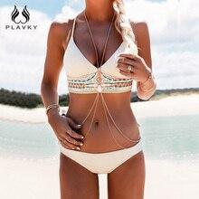 PLAVKY costumi da bagno donna, женский сексуальный комплект бикини, пуш-ап, купальник с рисунком, бикини с бахромой, пляжный купальник, женские купальники