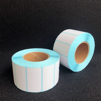 1100Pcs/Roll 40x20mm Waterproof Adhesive Thermal Label Sticker Paper Supermarket Price Blank Label Direct Print Sticker Paper