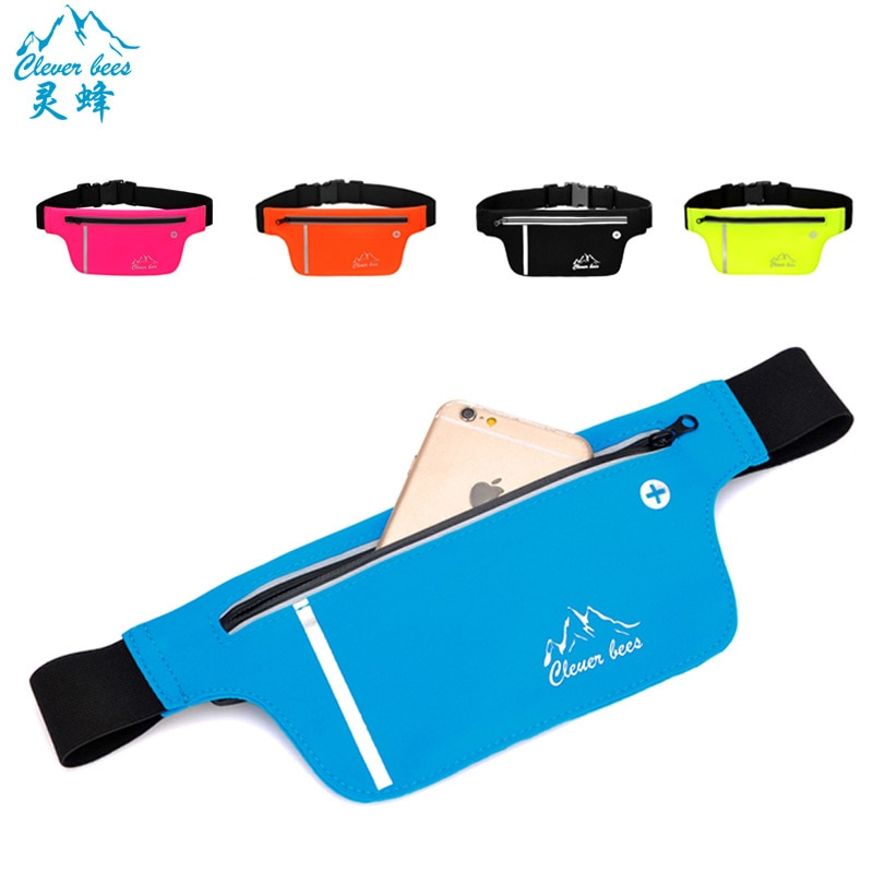 Ultra thin invisible running bag Yoga Fitness outdoor bag Anti theft elastic sports waist bag Marathon products 081