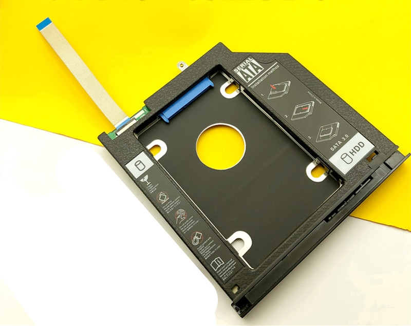 2nd segundo SSD HDD Caddy Cover W/tornillo soporte para Dell Inspiron 2467, 3459, 3465, 3467, 3468, 3478, 3562, 3567, 3568, 3576, 3578