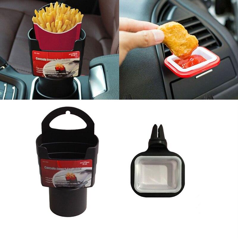 Автомобильный держатель для картофеля фри, коробка для хранения, держатель для стакана для пищевых продуктов и Автомобильный держатель для...