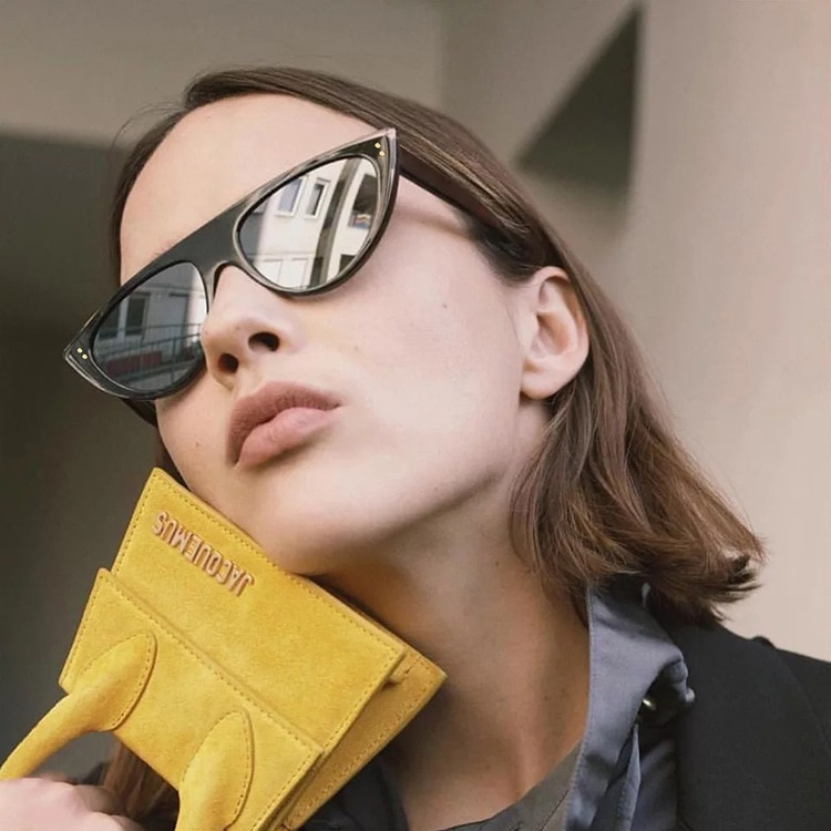 Солнцезащитные очки «кошачий глаз» женские, милые пикантные винтажные маленькие треугольные солнечные очки UV400, черные белые, красные, 2021