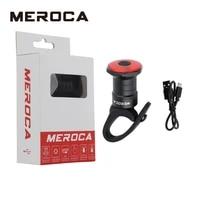 meroca bicycle rear light usb rechargeable tail light 500mah smart sensor light road bike tail light