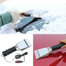 12V Car Electric Snow Scraper Heated Ice Scraper Auto Windshield Melter Shovel Ice Scoop For Car Windscreen Snow Scraper Tool