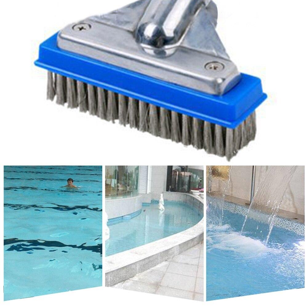 Piscina portátil cepillo de alambre pared piso algas tierra limpieza caliente piscina de bañera herramientas de SPA piscina portátil al aire libre elementos