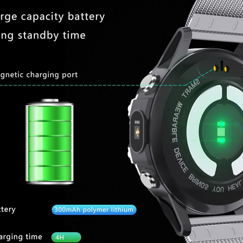 Blood Oxygen Smart Watch TI Chipset ECG+PPG Smartwatch IP68 Waterproof Professional Oximeter Full Round Heart Rate Monitor Band