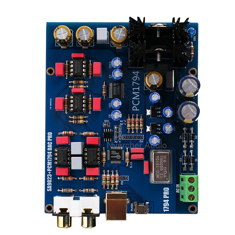 SA9023 PCM1794 DAC Decoder Board USB DAC Sound Card Finished Audio Card For Amplificador Amplifiers