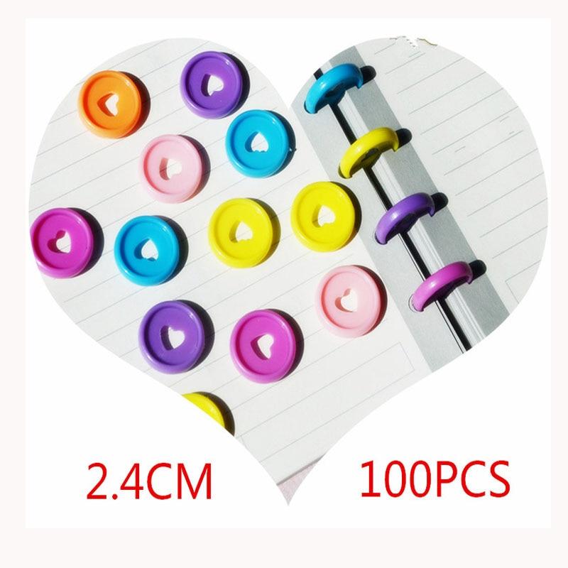100-pcs-24mm-notebook-raccoglitore-di-plastica-raccoglitore-ad-anelli-fibbia-fai-da-te-360-gradi-rotante-fungo-foro-colore-apprendimento-rilegatura-forniture