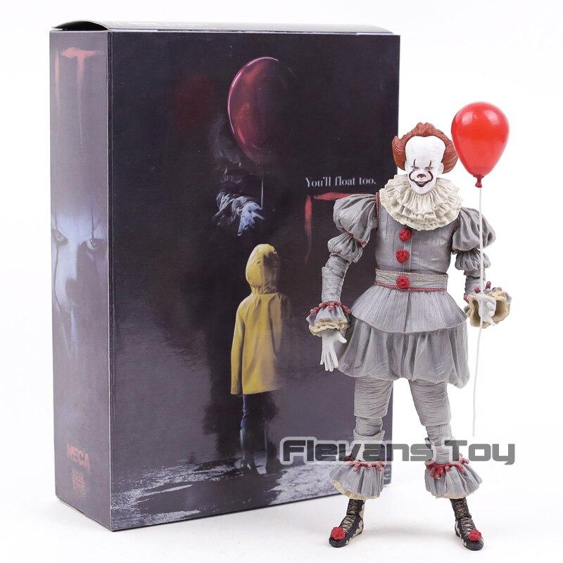 NECA Stephen Kings It Pennywise Joker Clown BJD Joint Move Action Figure giocattoli bambole per regalo di Halloween