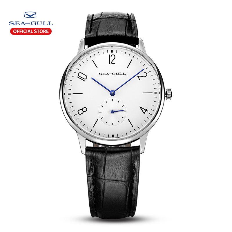 Seagull Brand часы мужские Manual Mechanical Watch Ultra-thin Simple Men's Business Leather Strap Waterproof Watch 819.612 наручные часы xiaomi twentyseventeen mechanical watch