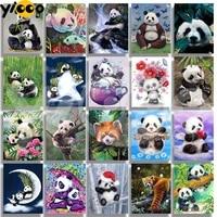 full square drill diamond painting cross stitch 5d embroidery lovely panda series rhinestone mosaic home decor gift tb20