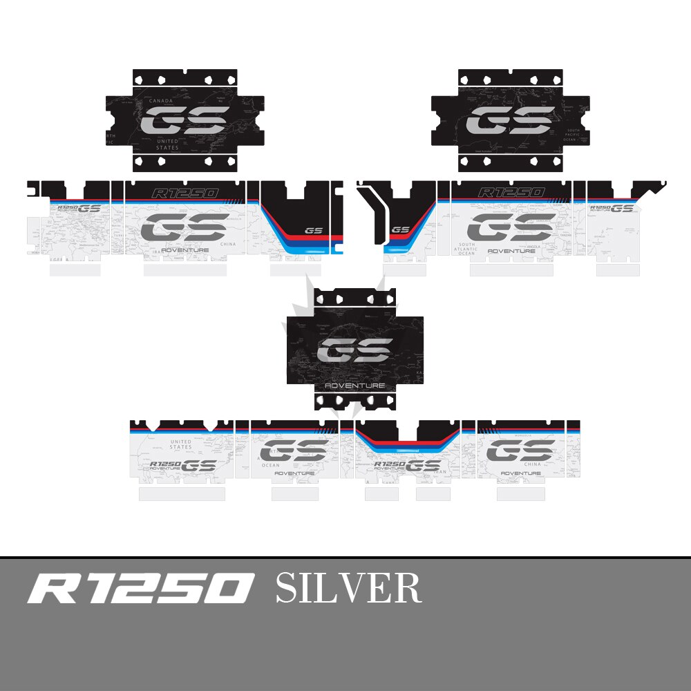 Funda trasera para motocicleta, funda superior, pegatinas decorativas, calcomanías para BMW R1200GS R1250GS Adventure 2004-2020, pegatina lateral