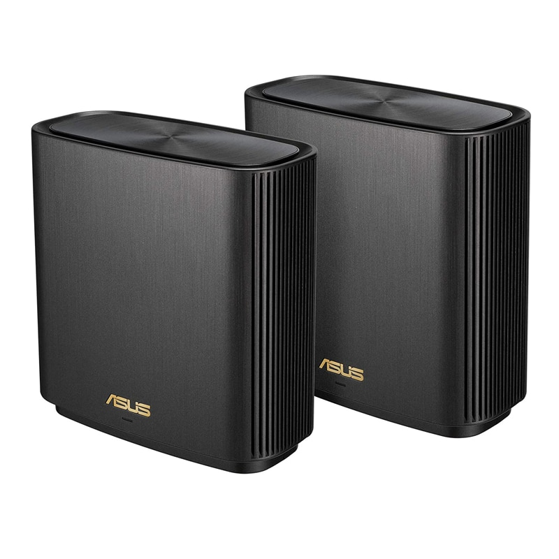 ASUS ZenWiFi XT8 2 Packs Whole-Home Tri-Band Mesh WiFi 6 System Coverage up to 5,500sq.ft or 6+Rooms, 6.6Gbps WiFi Router