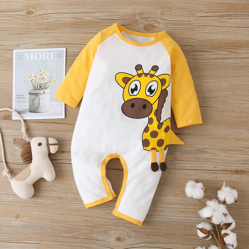 Ropa de bebé, ropa de bebé, mono a la moda para recién nacidos, niños, niñas, dibujos animados, Mono de manga larga, envío gratis