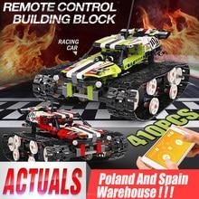 Série technique la piste RC télécommande course voiture ensemble blocs de construction briques jouets éducatifs compatibles avec 20033