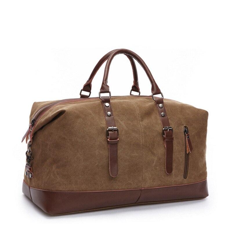 """גדול קיבולת אופנה נסיעות תיק לגבר נשים סופ""""ש שקית בד עור דובון תיק נייד נסיעות מטען לשאת שקיות תיקים"""