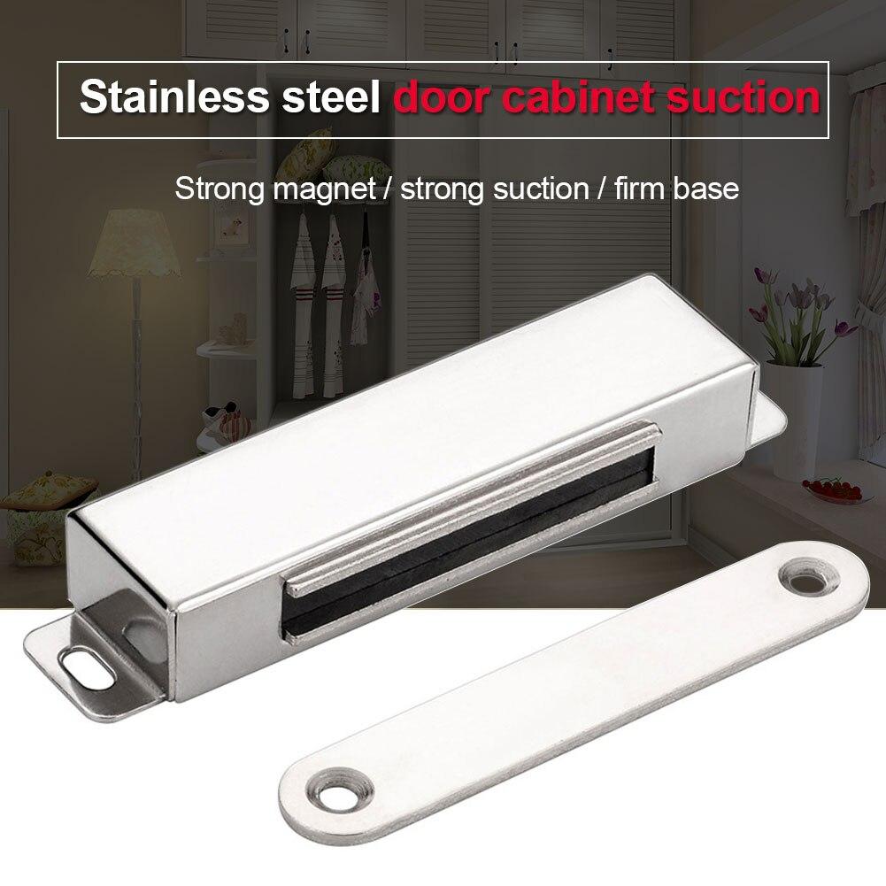 2 juegos de pestillos fuertes de cocina de gran resistencia con tornillo más cerca de la puerta del armario atrapa herrajes para muebles del hogar de acero inoxidable magnéticos