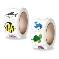 childrens toys in rolls incentives cute fish stickers office stationery decorative sealing stickers stickers