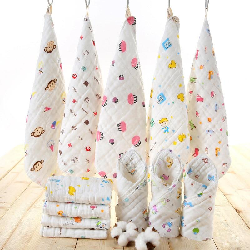 5 Pcs Baby Washcloths Organic Cotton Baby Wipes Soft Newborn Face Towel Baby Bath Accessories