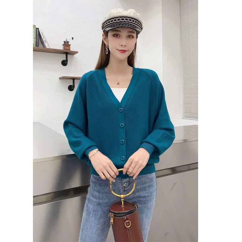 V-Neck Cardigans Sweater Women New Autumn Winter Elegant Solid Korean Cardigan soft warm sweater woman sweaters coat enlarge