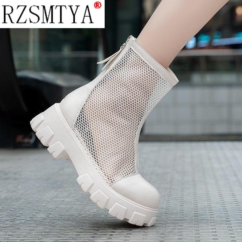 تنفس شبكة جوفاء الصنادل حجم كبير 42 43 الصيف تنفس منصة الأحذية سميكة وحيد النساء عودة سستة الأحذية