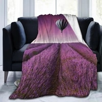 new 3d personalitylavender printed flannel blanket sheet bedding soft blanket bed cover home textile decoration