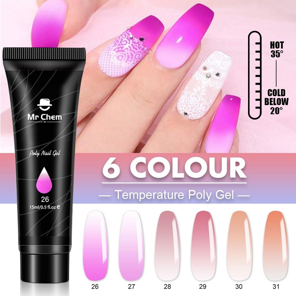 Mr Chem Poly Nail Gel For Nails Extension Finger nail art Manicure Acryl gel Varnish hybrid 15ML Poly UV Gel Polish Extension