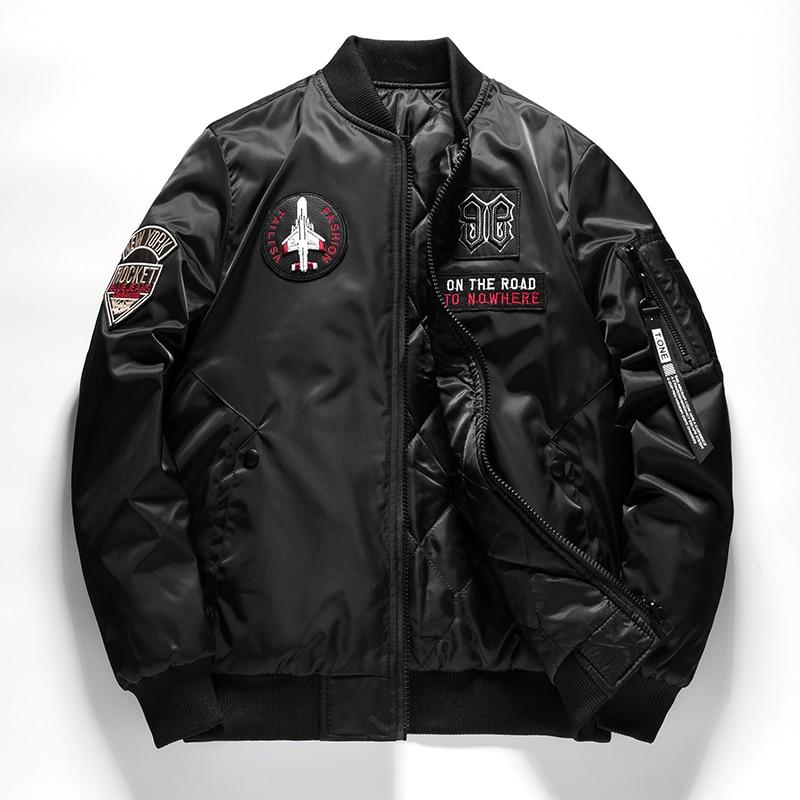 Double-sided wear Casual Windbreaker Man Pilot Jacket Men Slim-fit collar Green black blue  Mens Coat Autumn Winter veste homme
