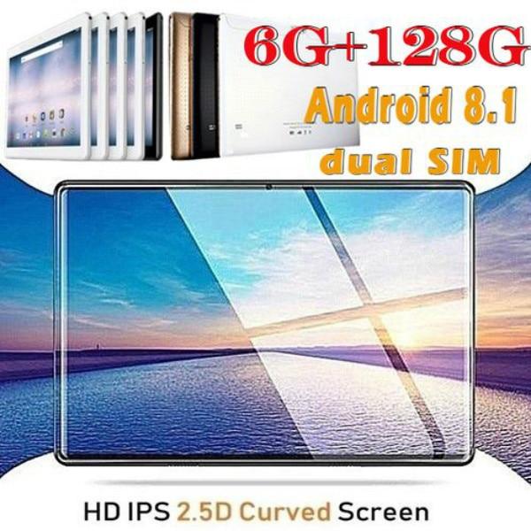 2020 High Quality 10 Inch HD 2.5D Screen Dual Camera Tablet PC 4G/Bluetooth/WiFi 6GB RAM+128GB ROM  tablets kids tablet FM GPS