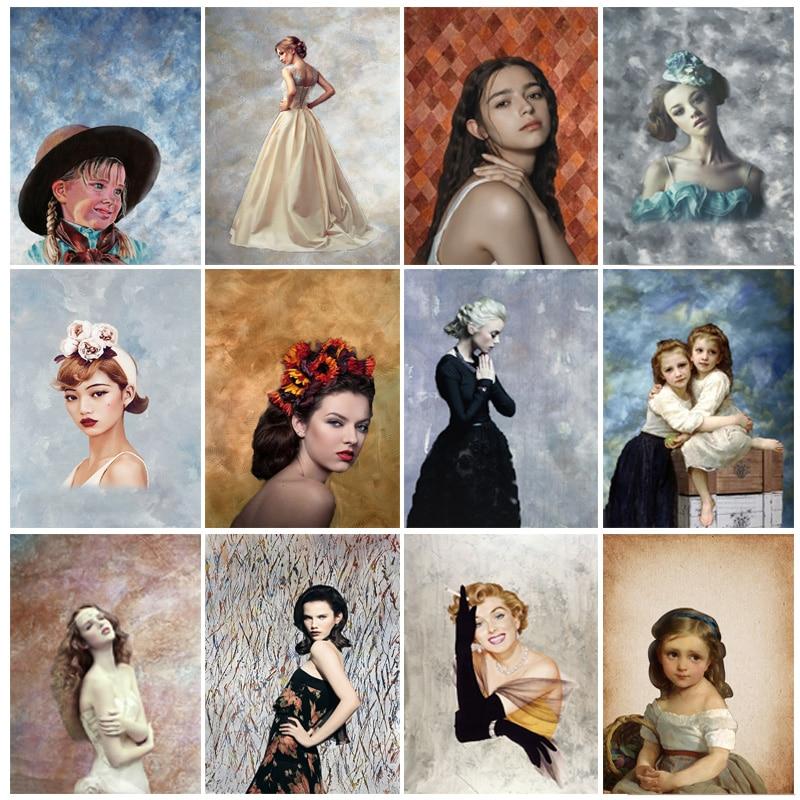 SHUOZHIKE Винтаж градиент задники для фотосъемки кирпичная стена деревянный пол детского портрета фото Фоны 210125MB-65