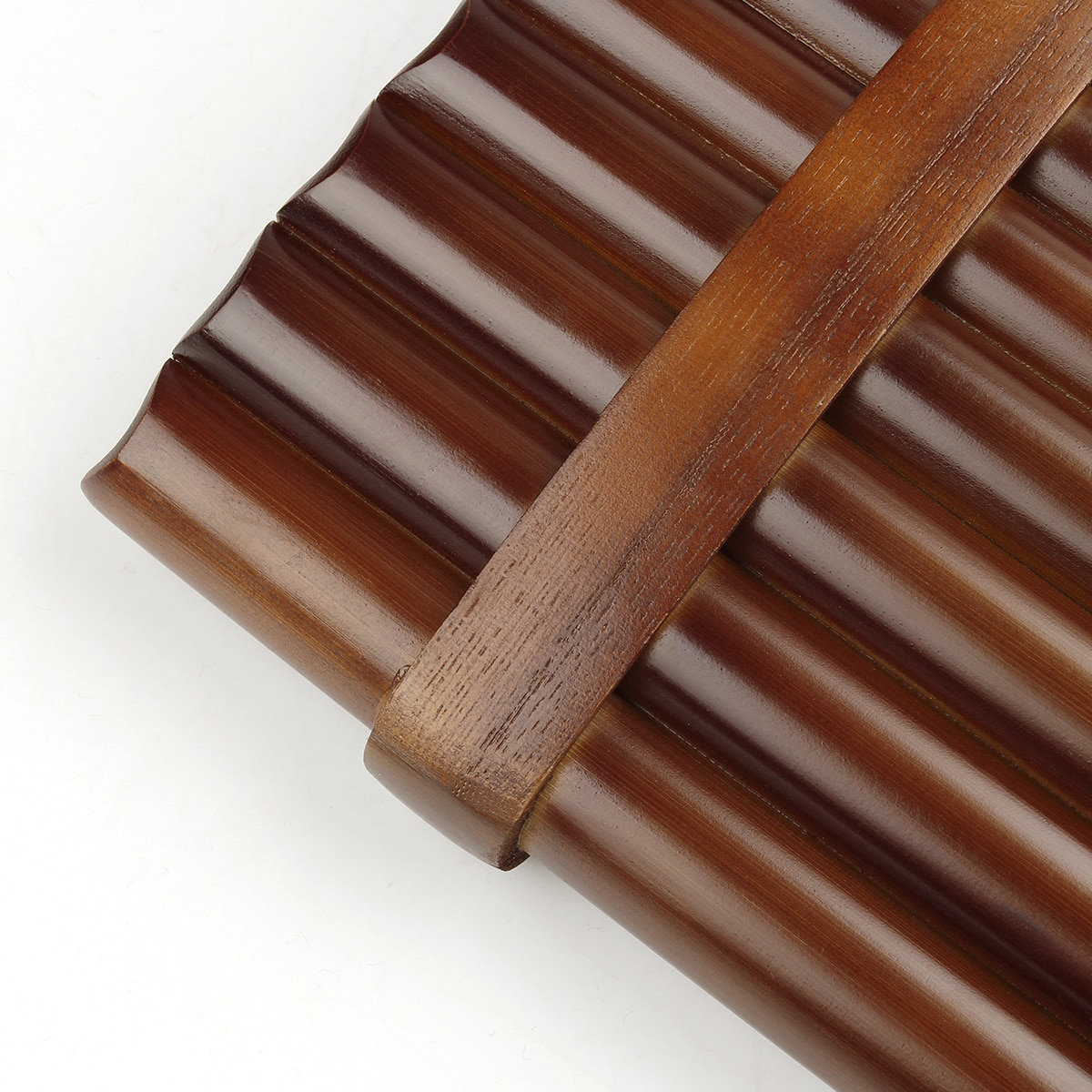 18 Pipes  Pan Flute F Key Folk Musical Instruments Brown Colour Flute De Pan Woodwind Instrument Handmade Pan Pipes enlarge